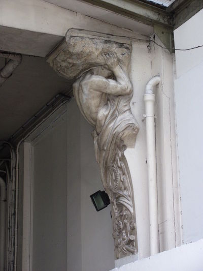 Architecture Building Exterior Caryatid Paris Religion Sculpture Statue