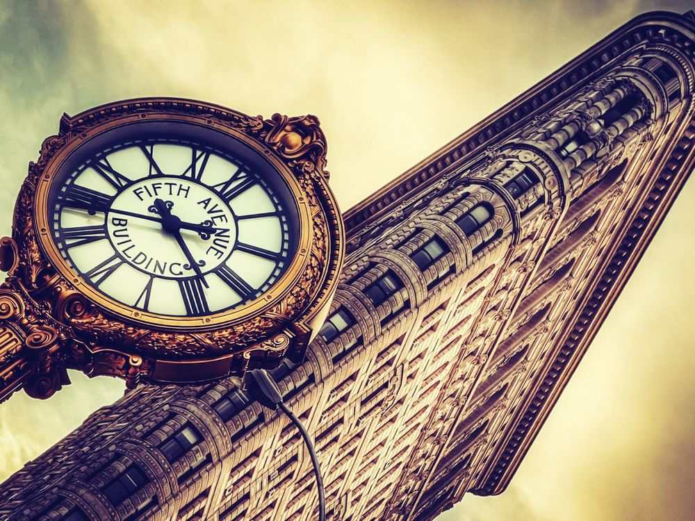 Beautiful clock Walking Around People Watching