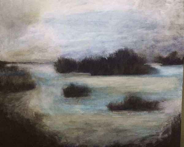 New Piece Oil Painting Moody Landscape ArtWork
