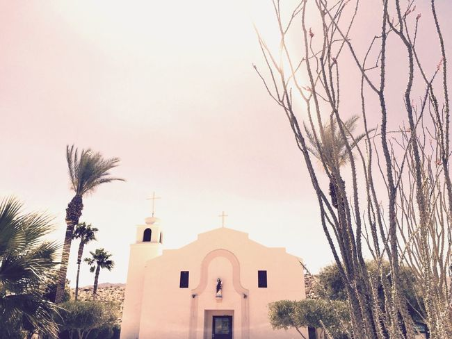Little white church in the desert Enjoying Life Travel Photography Vacation Beautiful Desert Beauty
