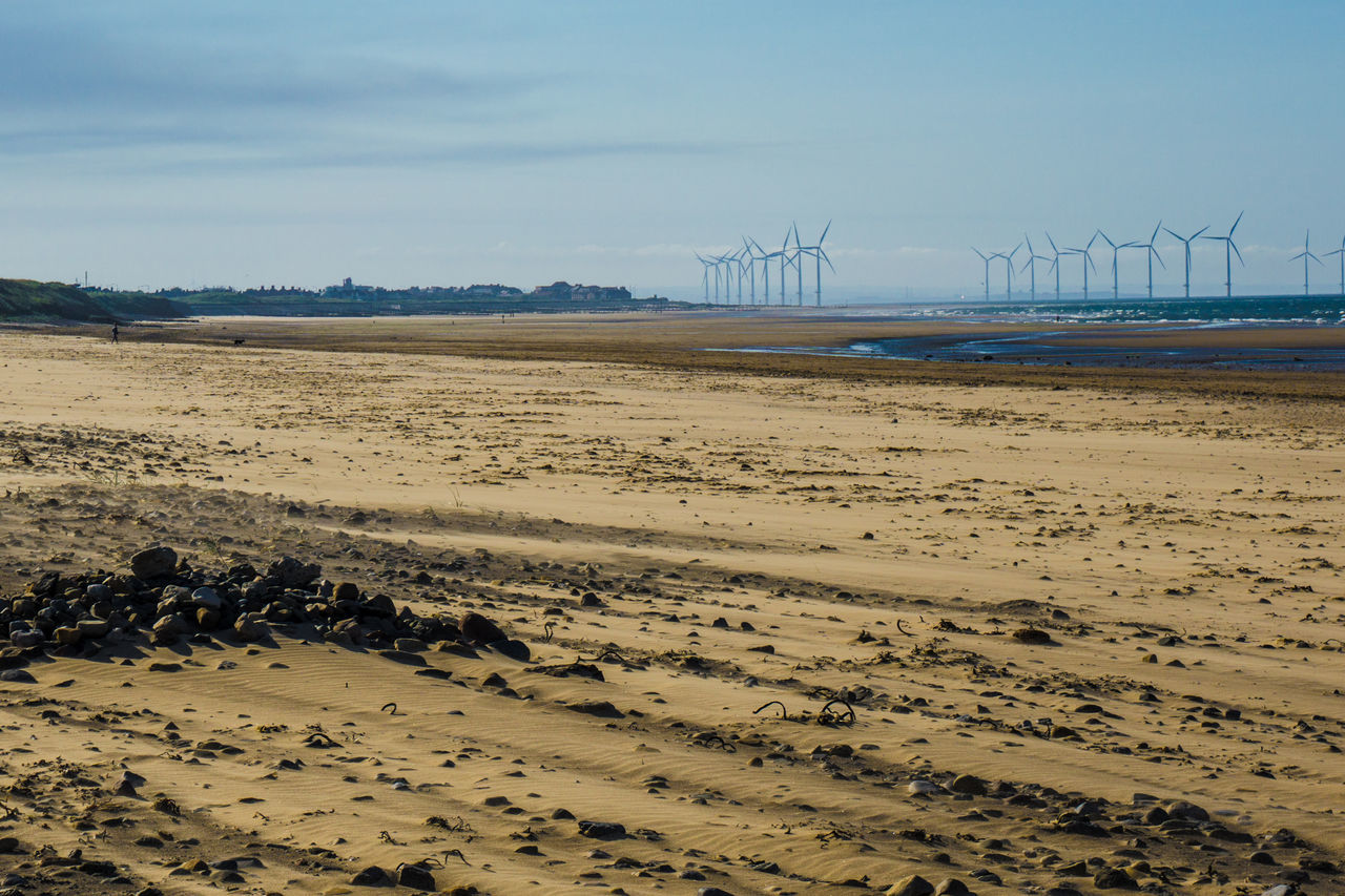 Alternative Energy Beach Day Environmental Conservation Fuel And Power Generation Landscape No People Renewable Energy Sea Sky Technology Wind Power Wind Turbine Windmill