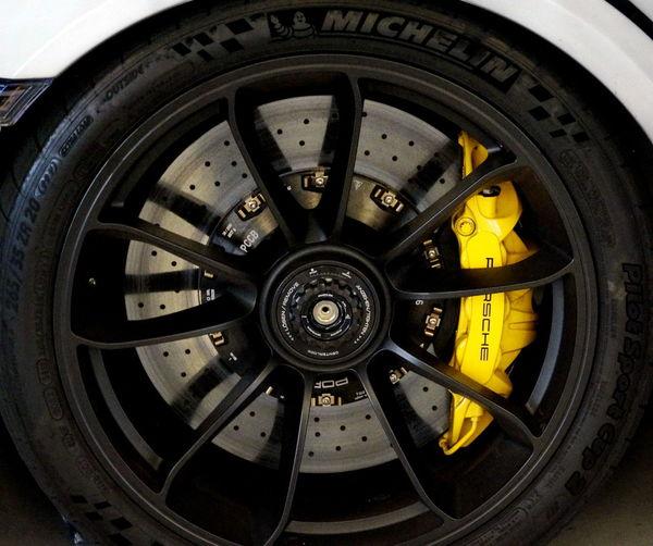 Brakes Close-up Day Indoors  No People Porsche Porshce Gt Rotors Tire Transportation Vehicle Part Wheel Wheels