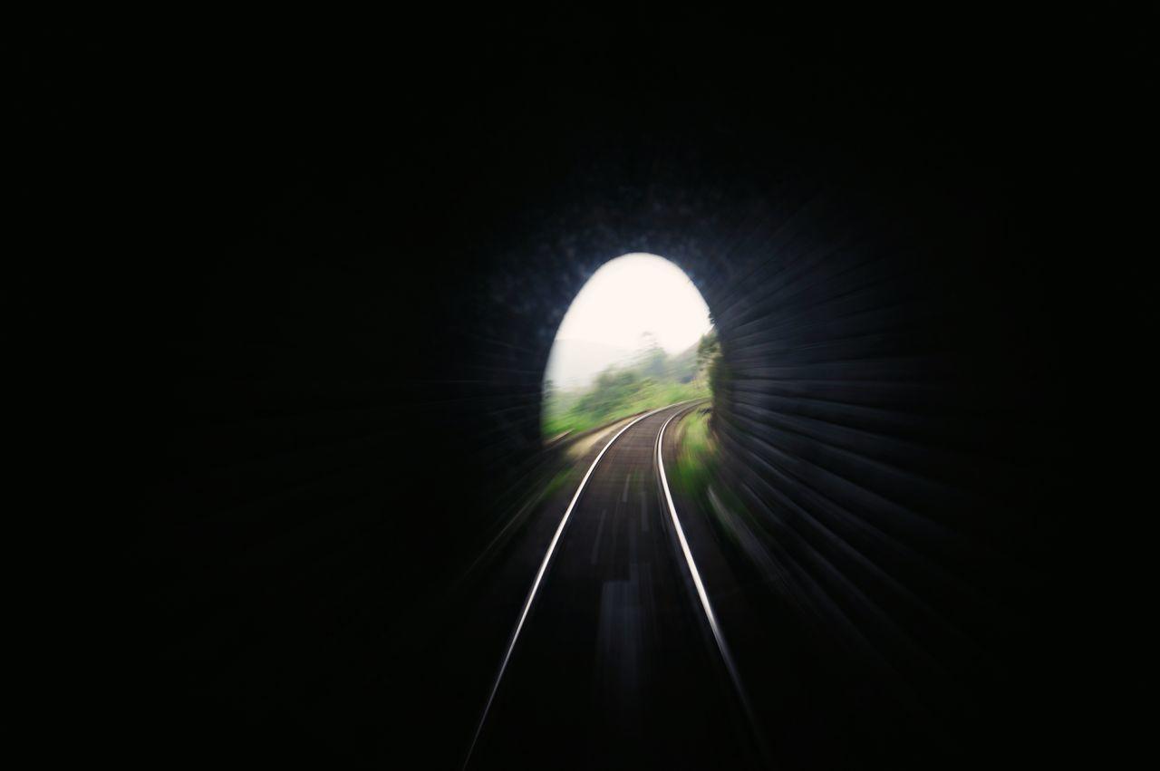 Long Exposure Transportation No People Tunnel Illuminated Nature Sky Tunnel Outdoors
