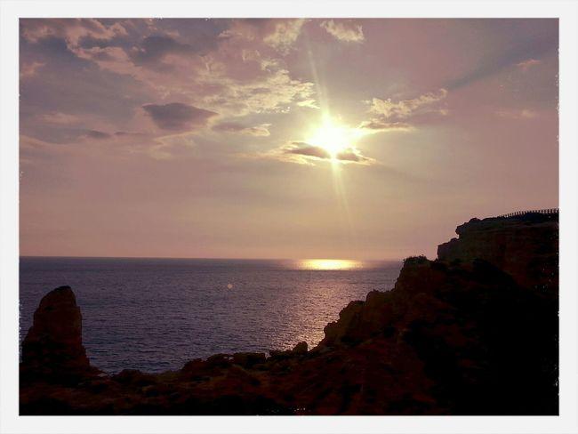 Carvoeiro Algarve near Algar Seco Holiday Traveling Water Reflection Landscape