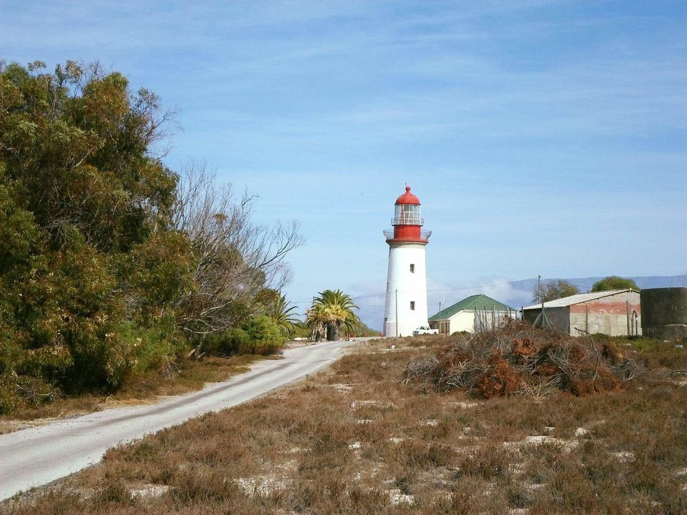 Robiben Island..Lighthouse. Robben Island Lighthouse Prison Nelson Mandela Jail UNESCO World Heritage Site History Southern Africa South Africa Fynbos Smoke Red And White Building Beautiful Land Tourist Attraction  Destination Must See
