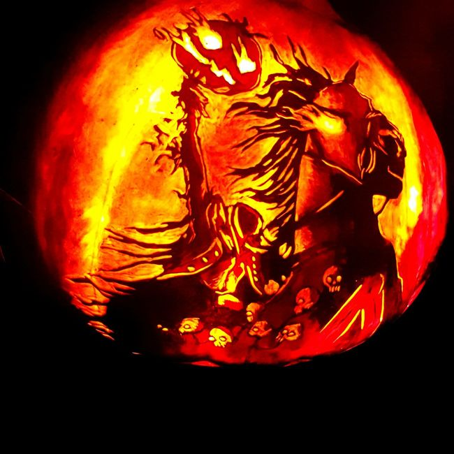 Roger Williams Park Jackolantern Spectacular Pumpkins The Headless Man