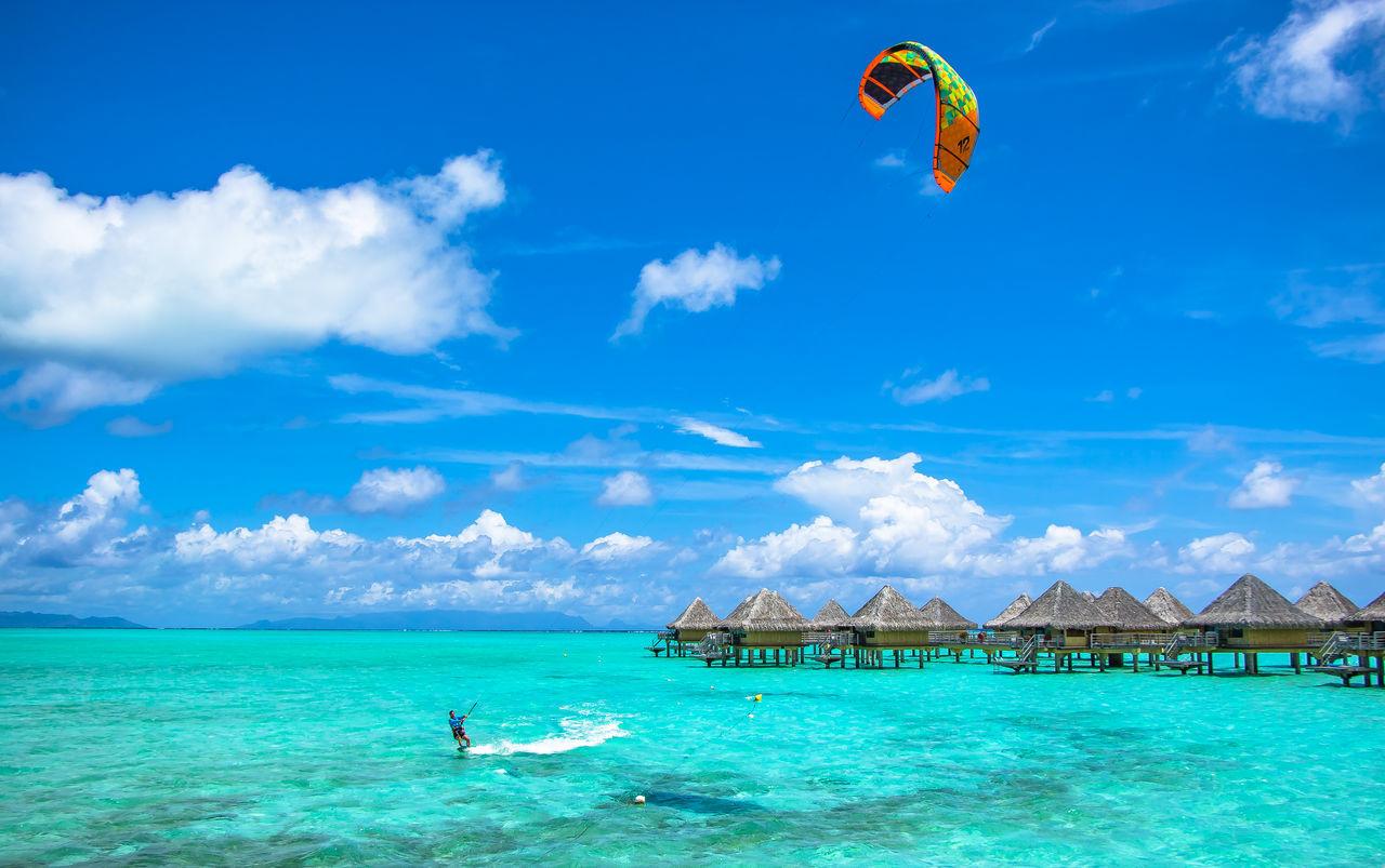 Beautiful stock photos of bora bora, blue, sea, sky, water
