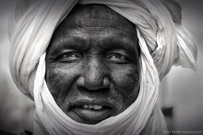 Tuareg in Paris Portrait Black & White Paris