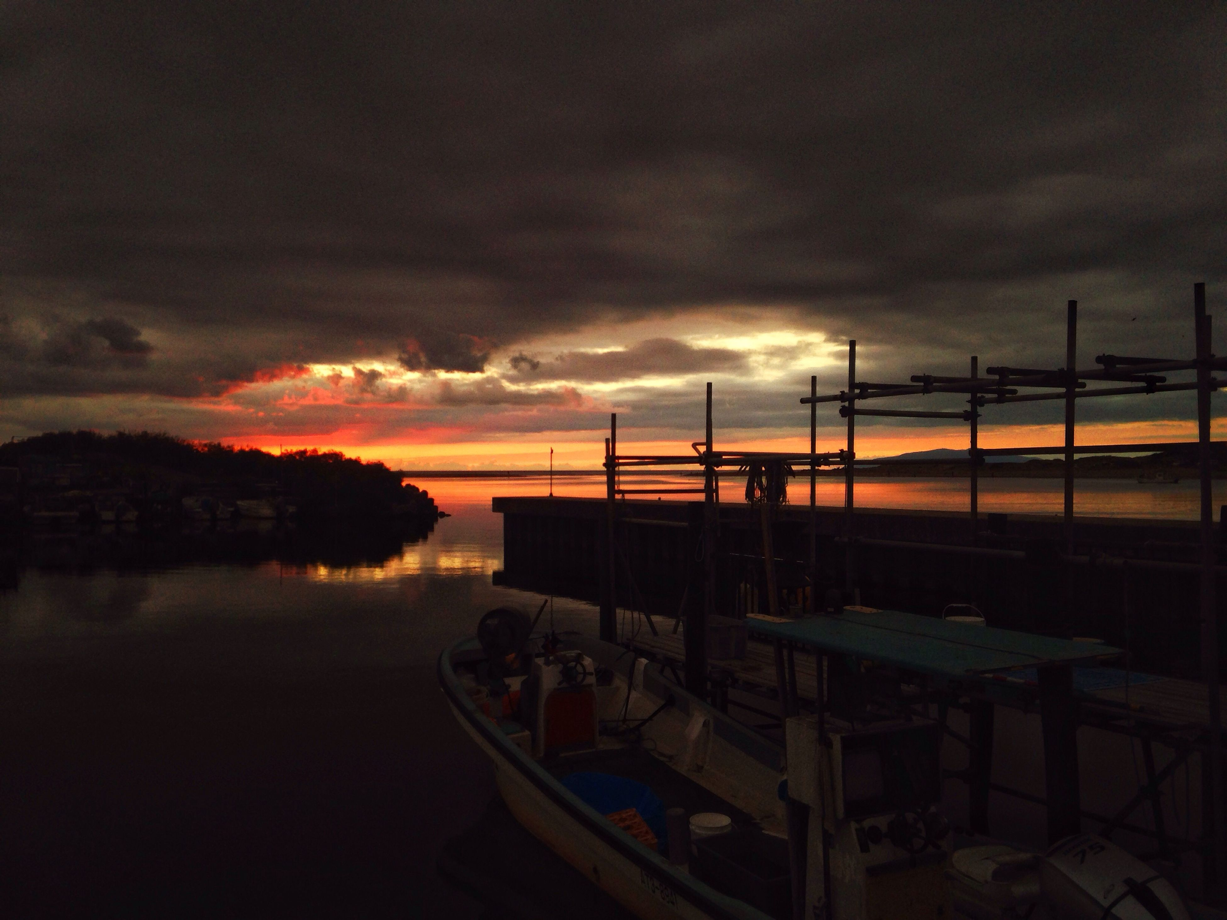 water, nautical vessel, sunset, sky, transportation, boat, cloud - sky, moored, mode of transport, cloudy, dusk, sea, harbor, nature, reflection, cloud, tranquility, tranquil scene, scenics, river