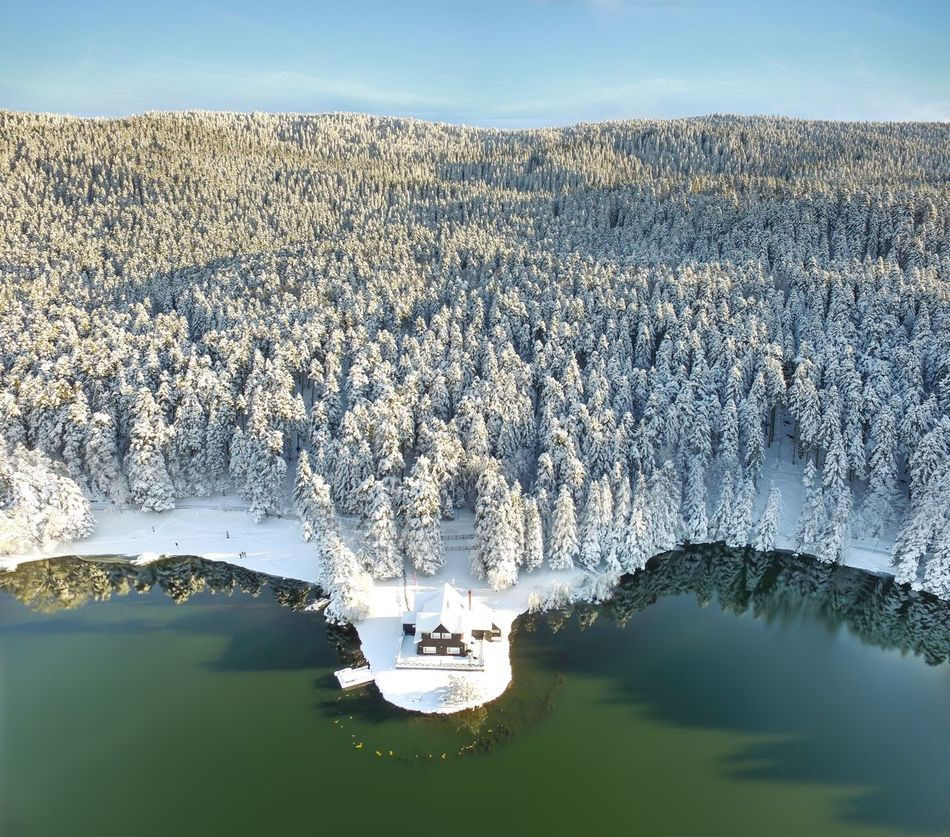 A Bird's Eye View Tranquil Scene Tranquility Water Scenics Beauty In Nature Landscape Nature Mountain Sky Aerial View Calm Waterfront Outdoors Beautiful Beauty In Nature High Angle View Travel Mountains Winter Tree Snow