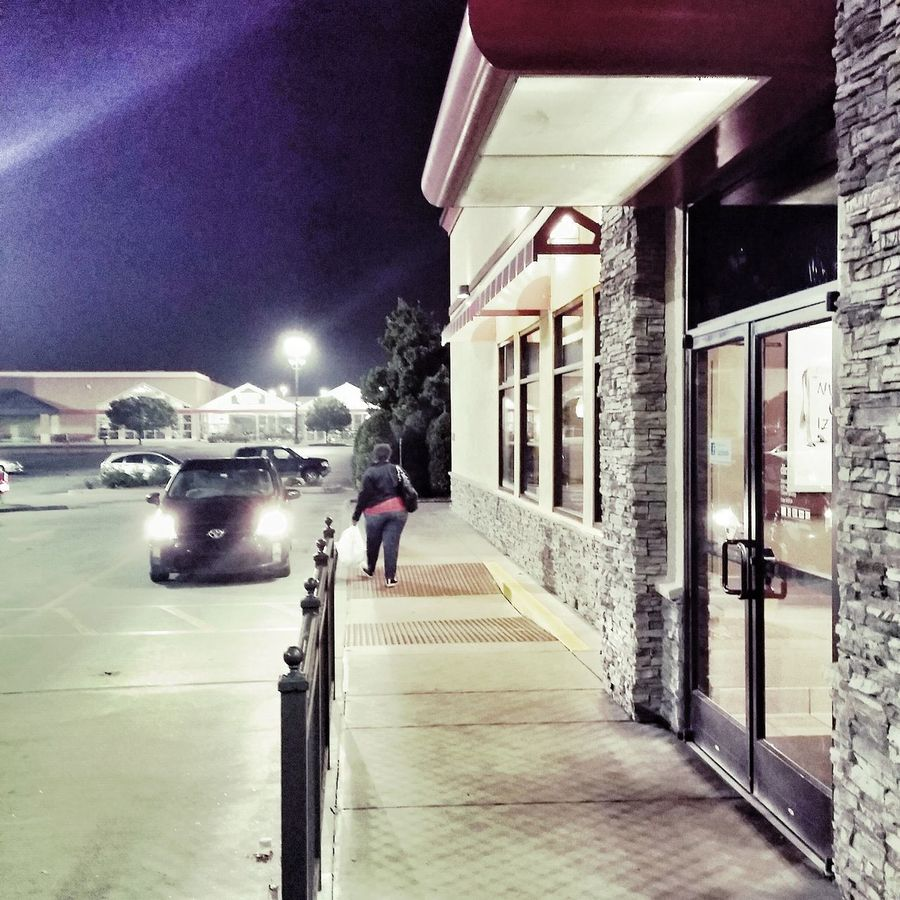 It's 0600 in the DriveThru lane this morning at Chick-Fil-A --> guess she got fed up with the wait. Humor Funny