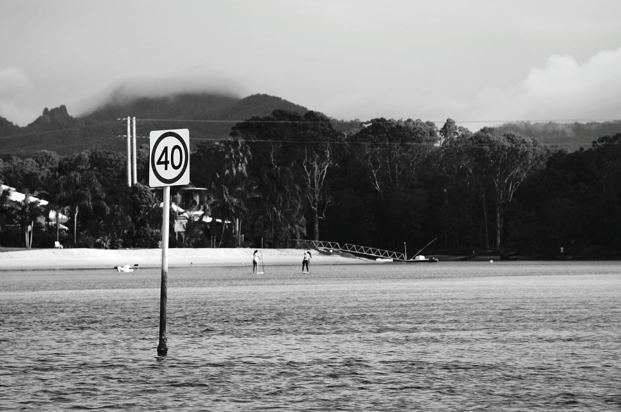 River Riverside Nature_collection EyeEm Nature Lover Blackandwhite Monochrome Speed Limit Signs