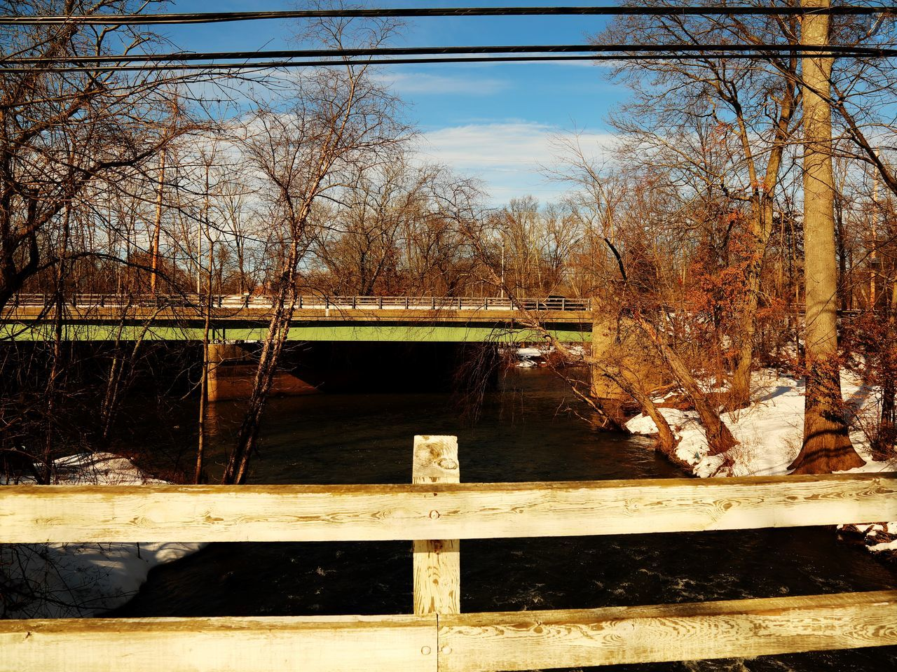 architecture, tree, built structure, bridge - man made structure, day, no people, outdoors, bare tree, nature, water, sky