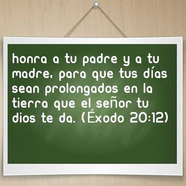 Honra a tu Padre y tu Madre... Exodo20_12 Honra Padre Madre Dios