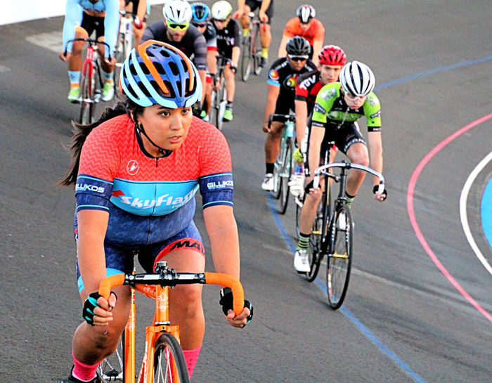Every evening from the middle of April until the middle of September, the San Diego Velodrome is host to a premier Night Racing series. These fast-paced races feature the fastest, most skilled, and experienced riders. With speeds up to 40 miles-per-hour, there's never a dull moment on the track and there are bleachers for the fans and it's free to watch. Racing, Balboa Park, San Diego, California, Helmet, No Brakes, No Gears, Velodrome, Bicycle Racing, Fixed Gear Bike, Bicycle, Riders, Oval Track, San Diego, California, Balboa Park, Morley Field, Evening, Night,