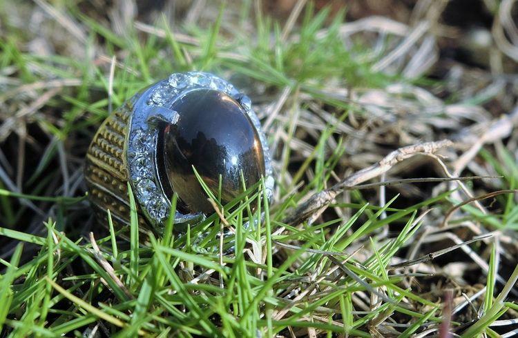 Gems Gemstones Grass Growth Nature No People Outdoors Smokyquartz