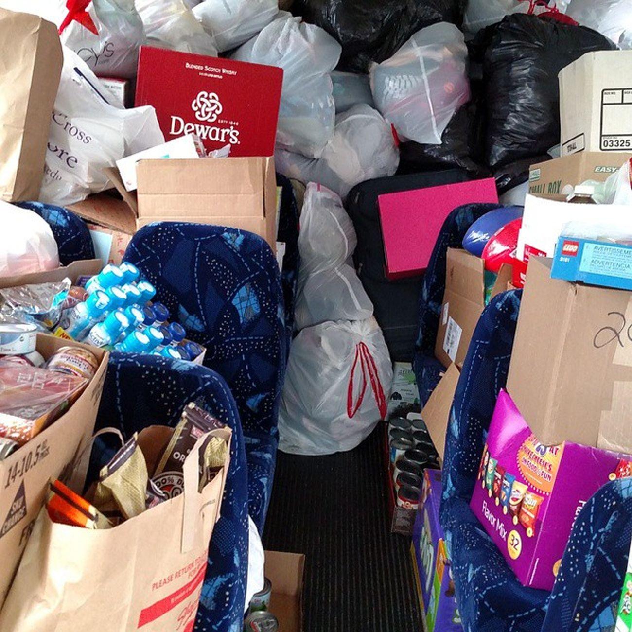 Stuff-A-Shuttle Charity Homeless Clothes Cannedgoods