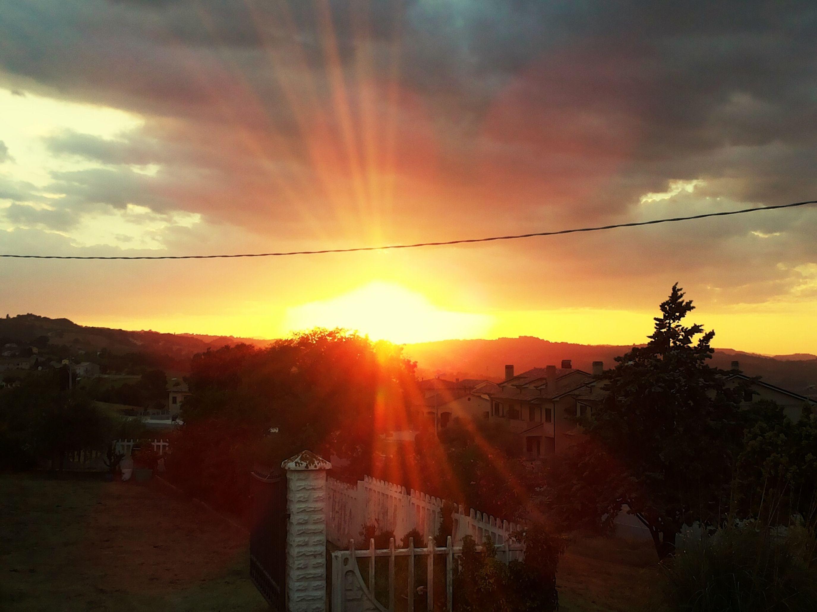 E luce fu. Genesi Creazione Viacostenumerodue Tramonto Sunset Countryside Sky And Clouds Landscape Hello World Nature