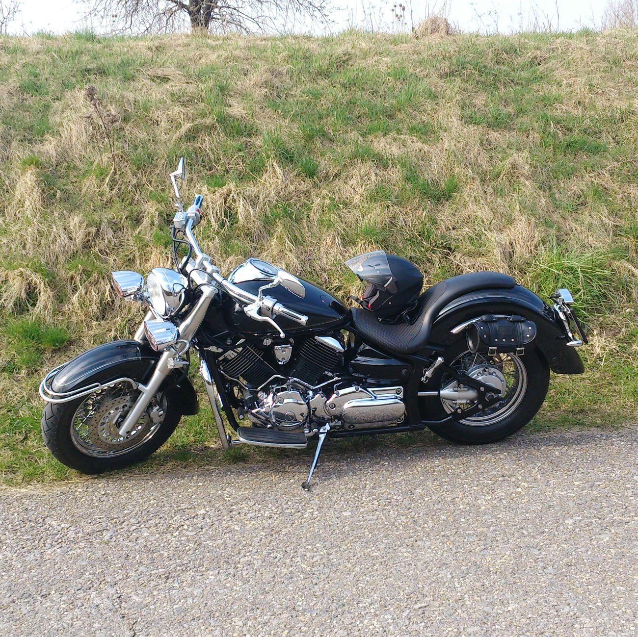 Motorcycle Motorcycles März2015 Motorrad Yamaha Drag Star Sturzhelm Cruiser
