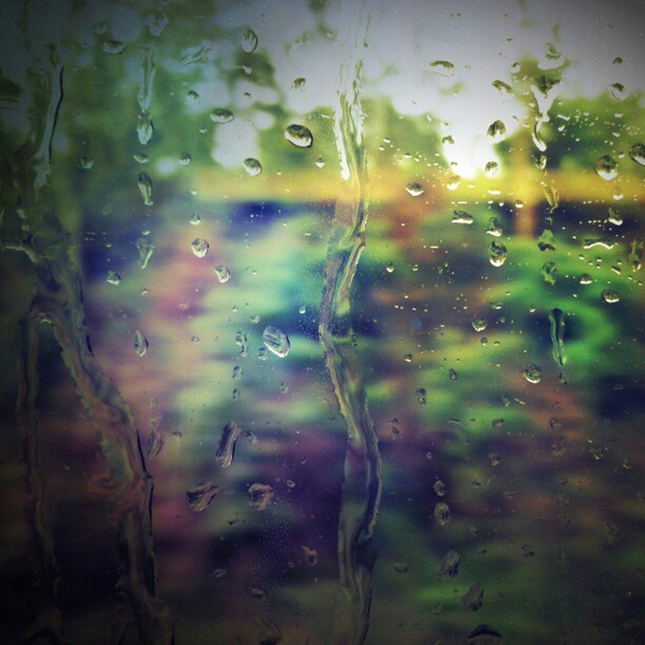 Project365, November 8th 2012, Day 37: RAIN BITCH! Project365 365project Day37 Rain Rainbow Window