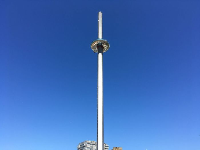 Blue Brighton Beach British Airways 360i Clear Sky Day No People Observation Tower Outdoors Sky