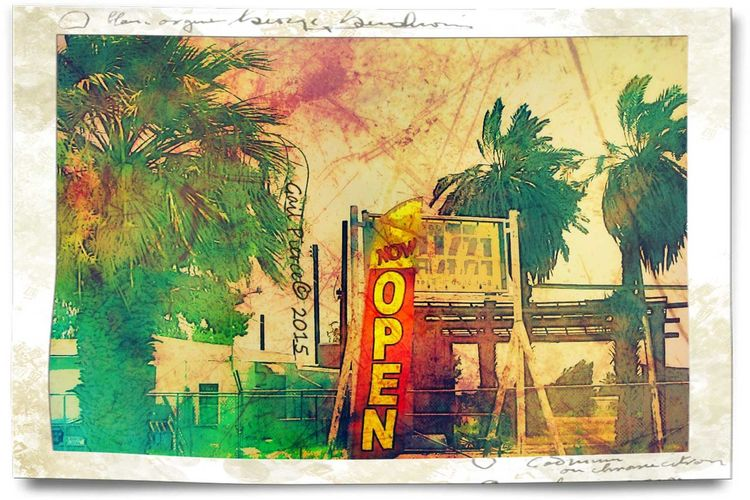 Salton Sea, Digital Expression, Distressed, Faux Vintage