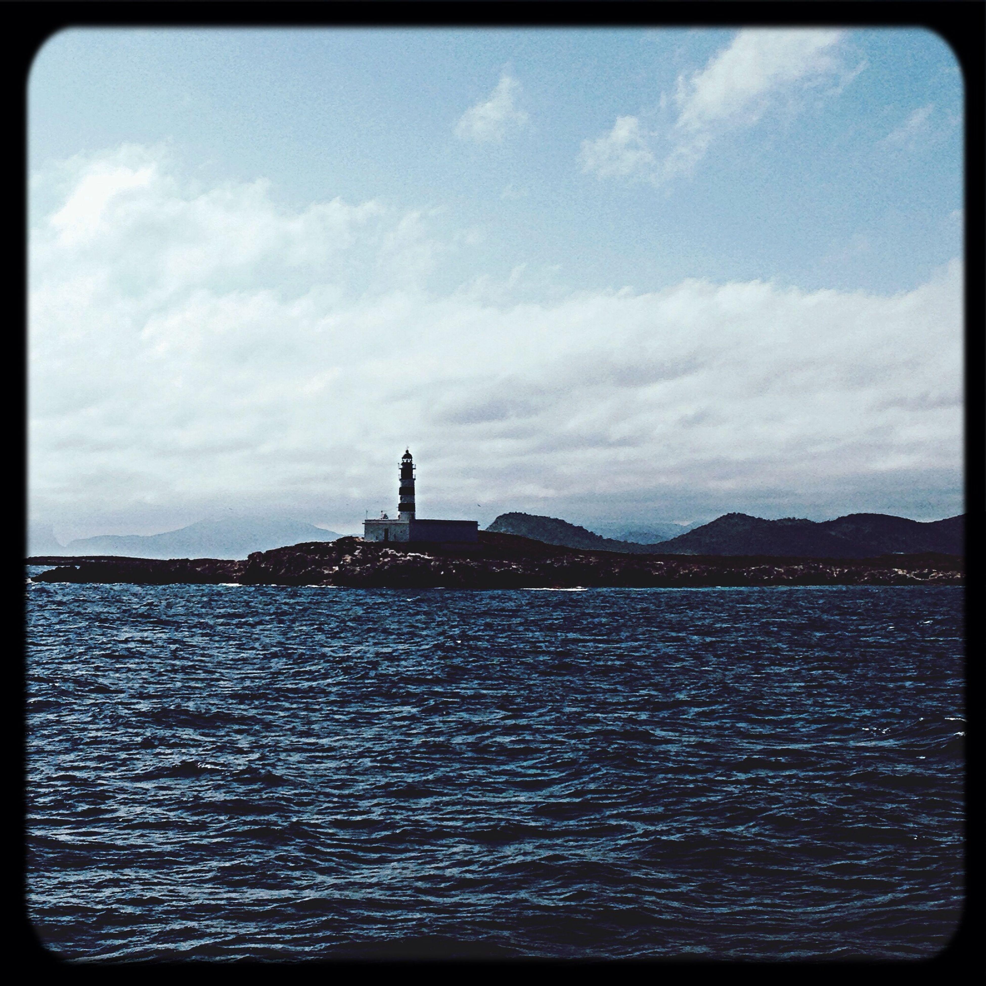 Lighthouse Relaxing Cruise Ship Enyoing Life