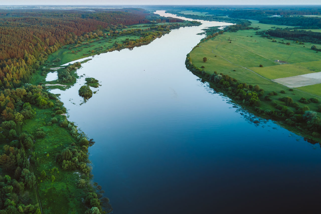 Winding River Aerial Shot Agriculture Beauty In Nature Day Done Field Golden Hour High Angle View Landscape Mavic Mavic Pro Nature No People Outdoors Patchwork Landscape Reflection River Rural Scene Scenics Sunset Tranquil Scene Tranquility Vilkija Water Winding River