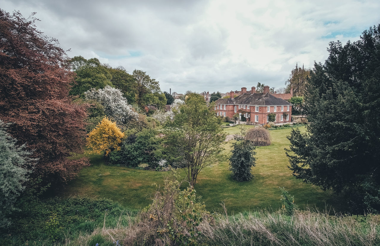 View from the City Wall Architecture Beauty In Nature Building Exterior Built Structure Grass House Landscape No People Scenery Scenics Sky Spring The Great Outdoors - 2017 EyeEm Awards Tree Uk York