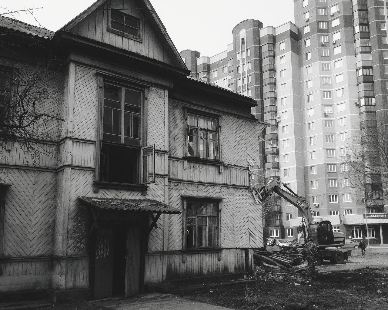 Architecture City Outdoors Day Old House Hello World Interesting 2017 Blackandwhite EyeEm Best Shots - Black + White Goodbye теперь уже прошлое