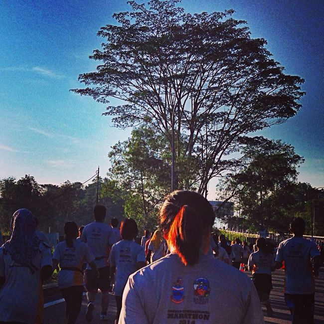 Life is short..Running make it seems longer BorneointernationalMarathon2014 Nike