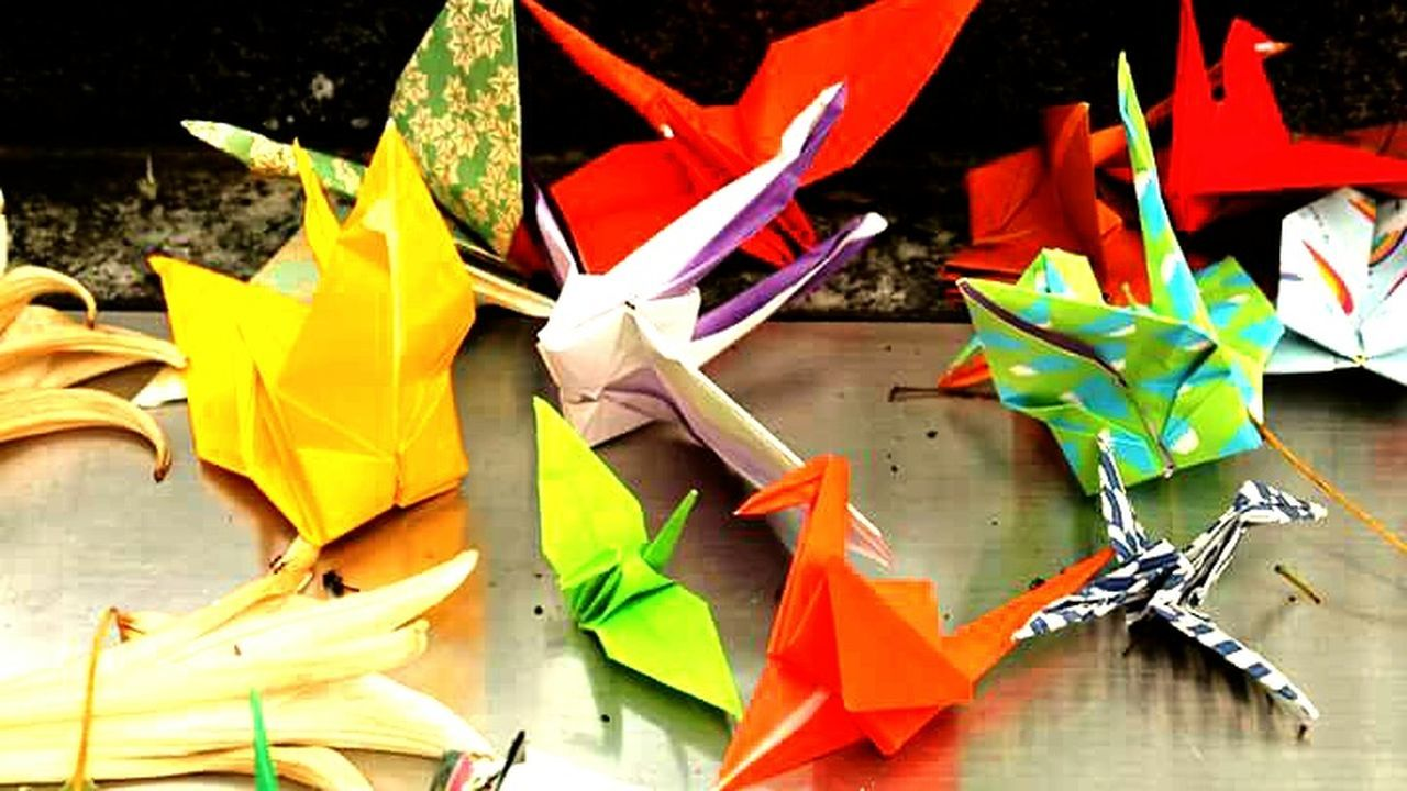 Origami Multi Colored No People Close-up Day Paper Japan Peace Hiroshima Peace Memorial Park Remembering World Peace
