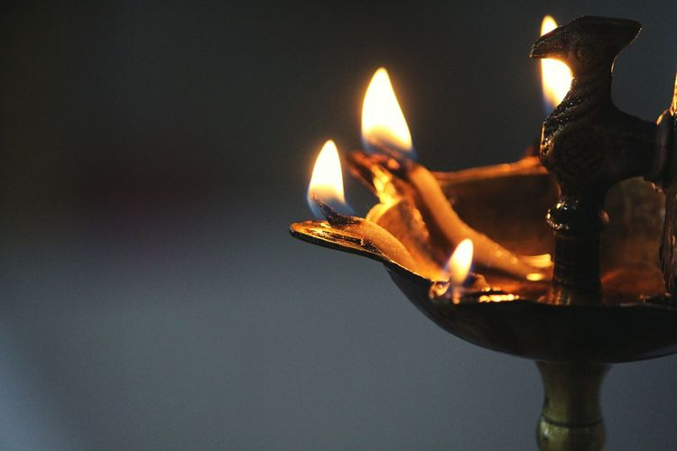 Flame Fire - Natural Phenomenon Burning Heat - Temperature Glowing Igniting Oil Lamp Diya - Oil Lamp Close-up No People Diwali Illuminated Indoors  Cultures Day Canon Canonphotography Canon700D Lamplightning