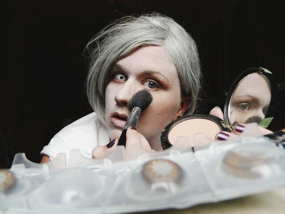 Beautiful stock photos of zombie, 18-19 Years, Applying, Beauty Product, Blush - Make-Up