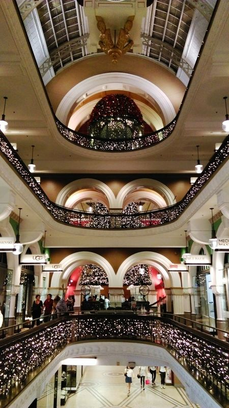 All I want for Christmas are donuts tbh Architecture Indoors  Travel Destinations Building Atrium Illuminated Modern Full Frame Queen Victoria Building QVB Shopping Center Christmas Lights Christmas Tree Christmas Decorations Christmas Around The World Christmas