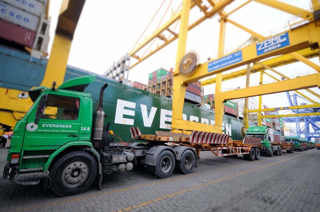 Architecture Building Exterior Built Structure Car City Life Container Export Gantry Cranes Ice Import Land Vehicle Logistics Mode Of Transport Parking Port Quay Cranes Quay Gantry Cranes Roadside Ship Shipping  Sky Terminal Transportation Truck Vessel