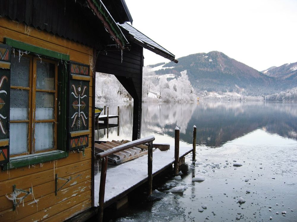 Frosty Boat House - We love Austria! Lake Water Mountain No People Outdoors Nature Boat House Winter Frosty Morning Winter In Austria Lunz Am See  Window Shutter The Great Outdoors - 2017 EyeEm Awards EyeEmNewHere