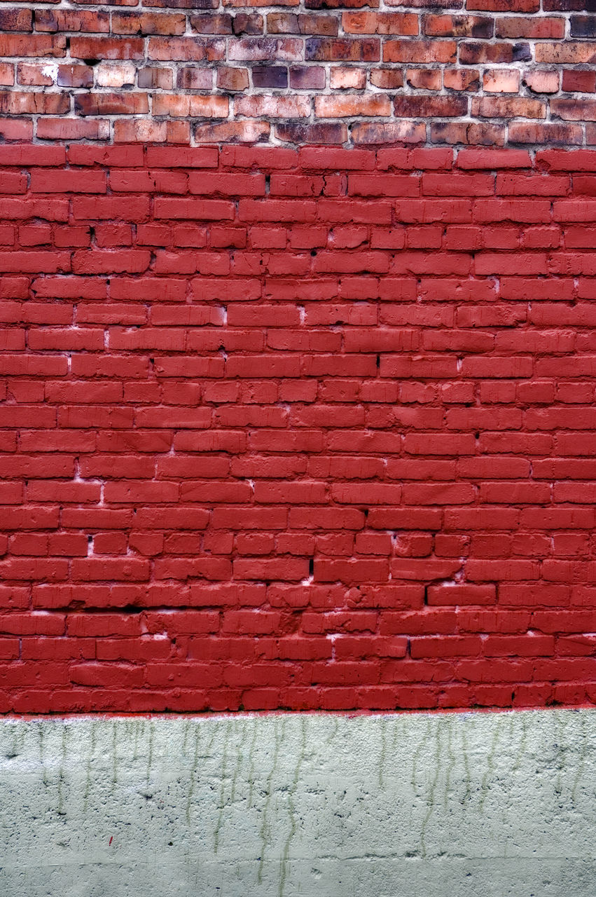 brick wall, red, brick, wall - building feature, architecture, day, no people, outdoors, built structure, textured, building exterior, backgrounds, full frame, close-up