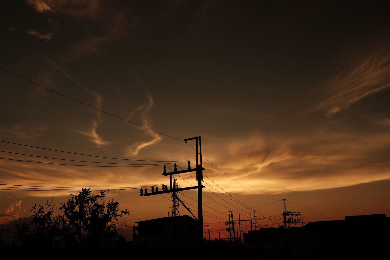 Beauty In Nature Sunset Sky Silhouette Outdoors No People Electricity  Power Supply Cable Hobbyphotography Love To Take Photos ❤ Eyeem Philippines EyeEm Nature Lover EyeEm Gallery Eyeemphotography Sooc - Straight Out Of The Camera