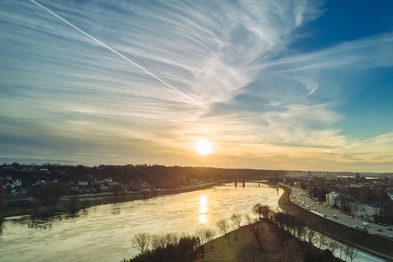 Spring Sunset Architecture Beauty In Nature Building Exterior Built Structure Cloud - Sky Day DJI Mavic Pro Drones Lietuva Mavic Mavic Pro Nature No People Outdoors Reflection River Scenics Sky Spring Sun Sunset Travel Destinations Tree Water