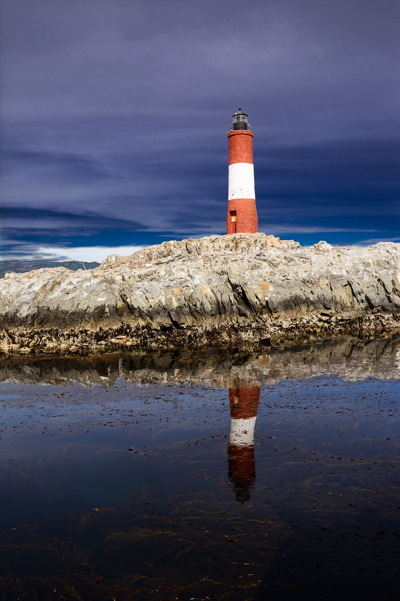 Lighthouse Les eclaireurs in Beagle Channel near Ushuaia Argentina Beacon Beagle Channel Evening Land Of Fire Landmark Les Eclaireurs Les Eclaireurs Lighthouse Lighthouse Patagonia Rock Sea Tierra Del Fuego Ushuaïa