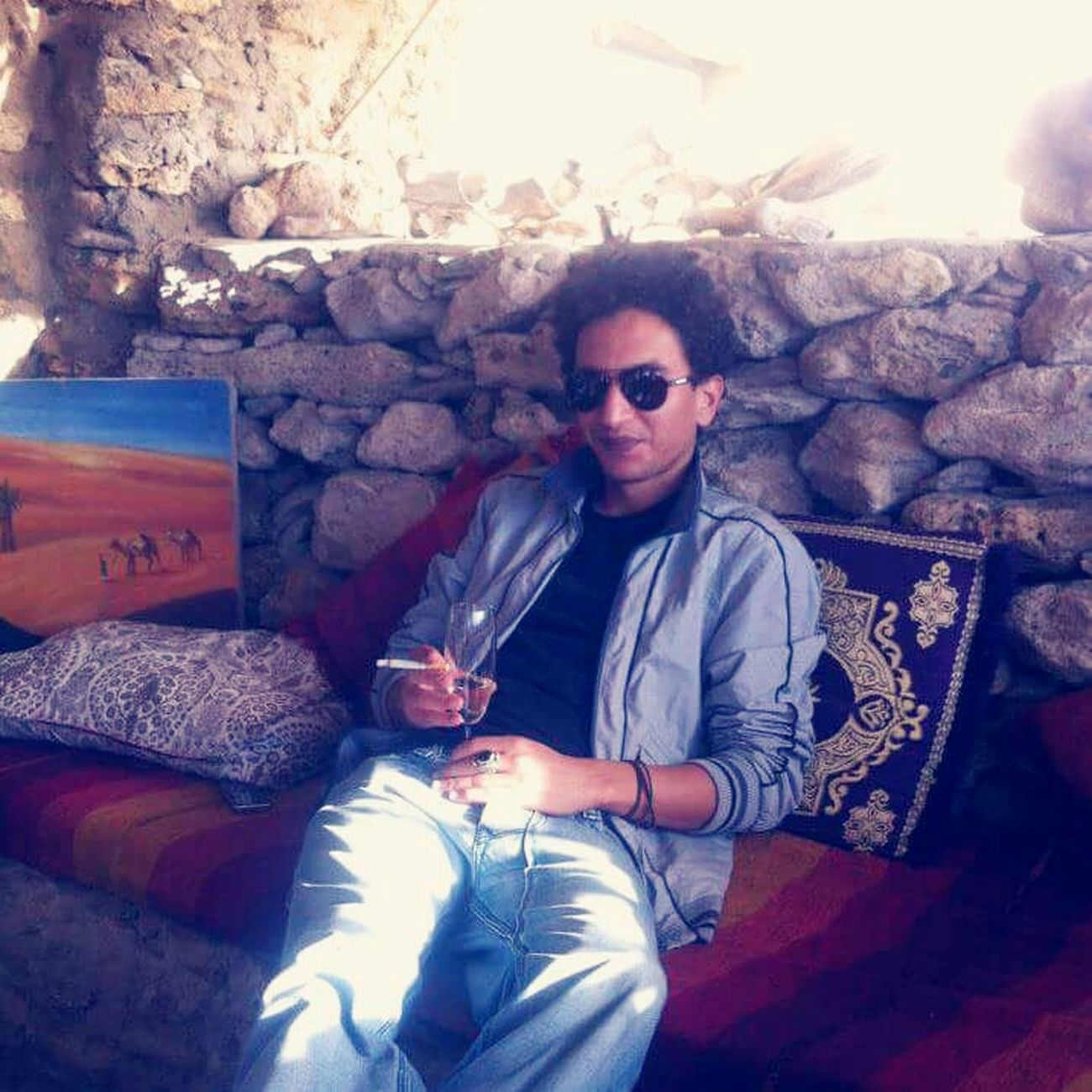 That's Me Enjoying Life Oldcity Castel Made Of Sand Jimi Hendrix Essaouira Moroccan Trip