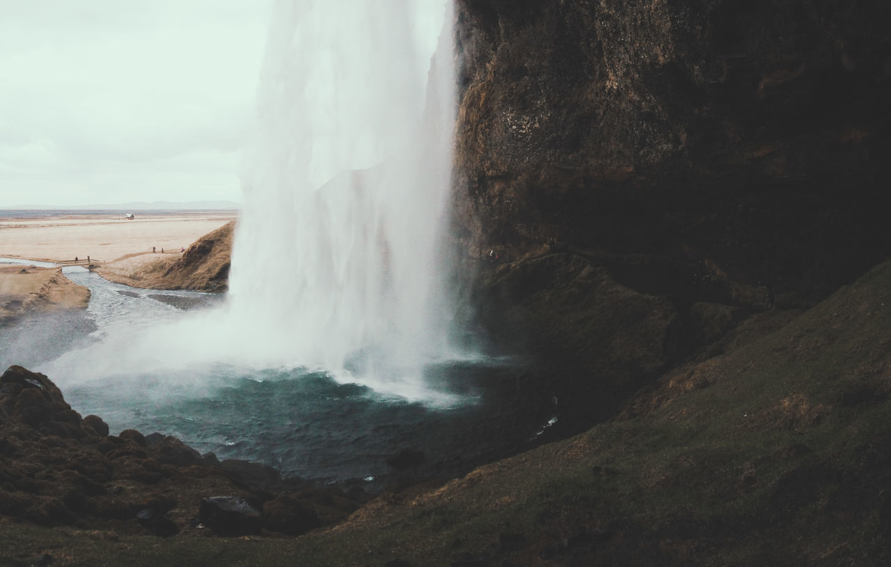 Beautiful stock photos of iceland, Beauty In Nature, Blurred Motion, Cliff, Day