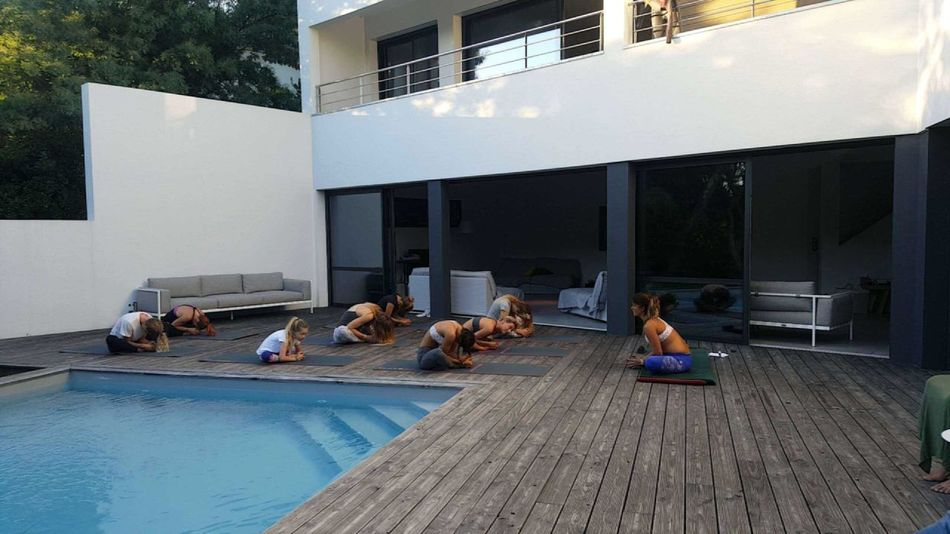 Sitting Built Structure Architecture Relaxation Men Summer Person Day Group Of Objects Yoga Pool Friends Leisure Activity Outdoors Pool Luxurylifestyle  Luxury