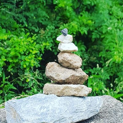Rock tower for Mami Rosa Rock - Object Balance Stack Nature Outdoors Day Zen-like No People Growth Pebble Plant Beauty In Nature Close-up Love Where You Live Rock Tower For Mami Rosa Tribute Memorial Day Tripping Art Summer North Carolina Fragility