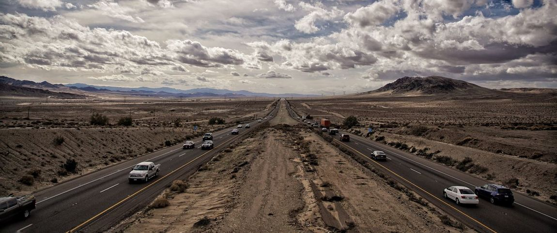 On the road Road Transportation Car Highway Driving Traffic Two Lane Highway Road Trip Mode Of Transport Travel The Way Forward Cloud - Sky Street Desert Outdoors Awe Mountain Land Vehicle Thoroughfare Sky