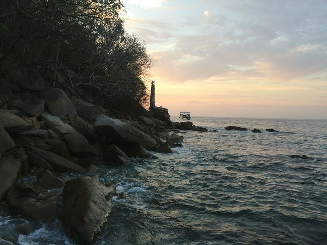 My Favorite Place Horizon Over Water Water Sunset Cloud Check This Out Wonderful_places Enjoying Life Rock Formation Rocky Coastline Rock And Water Adventures Tourism