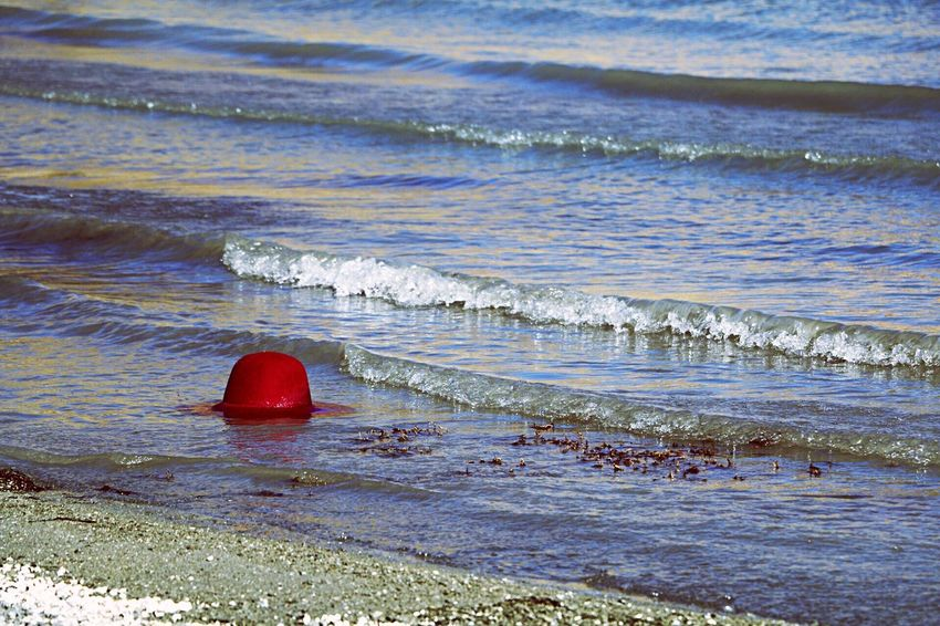 Water Sea Beach No People Nature Day Red Tranquil Scene Outdoors Beauty In Nature Tranquility Wave Lost In The Landscape Connected By Travel EyeEmNewHere