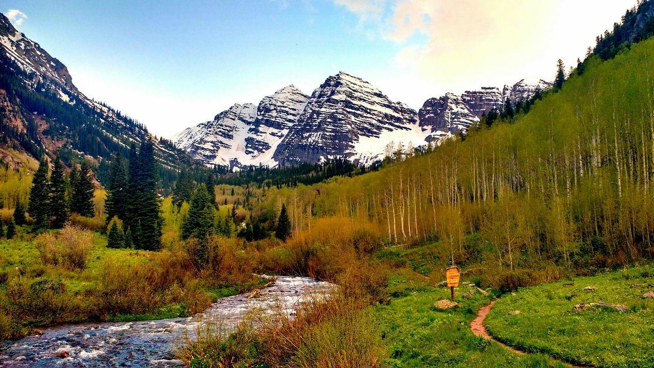 Maroonbells Aspen Colorado Mountains Hiking Vacation