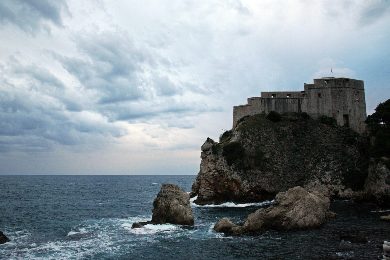 Dubrovnik,ancient fortress Lovrijenac,Croatia,Europe,2 Adriatic Coast Ancient Architecture Architecture Building Exterior Cloud - Sky Day Dramatic Sky Dubrovnik, Croatia Fortress History Lovrijenac Nature No People Outdoors Rock - Object Sea Sky Storm Clouds Water
